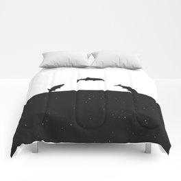 Fish print Black & White Comforters