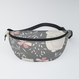 Bear and Flowers Fanny Pack