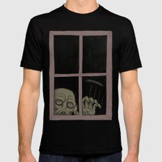 Let Me In MEDIUM Mens Fitted Tee Black