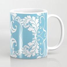 Blue Leaf Lace Mug