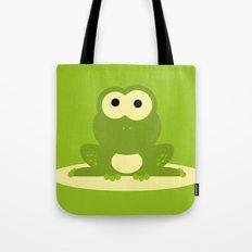 Minimal Frog Green Tote Bag
