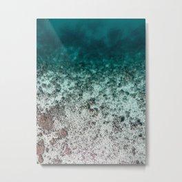 Aerial of an Ocean Fade Art Print Metal Print