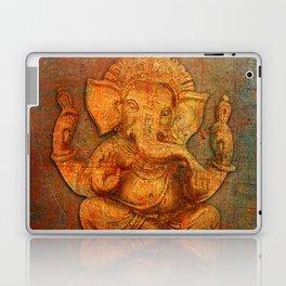 Lord Ganesh On a Distress Stone Background Laptop & iPad Skin