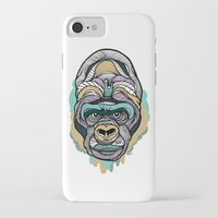 gorilla iPhone & iPod Cases featuring Gorilla by casiegraphics
