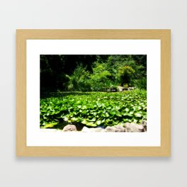 Green is Easy To Be Framed Art Print