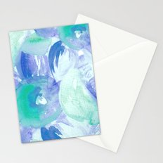 Turquoise Florals Stationery Cards