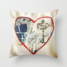 Paris Roadmap of Love Throw Pillow