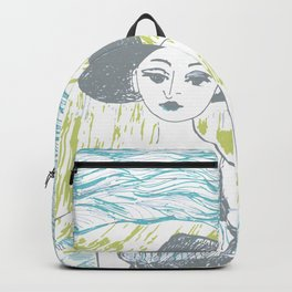 Woman on the beach 2 Backpack