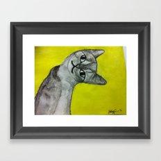 crooked kitty Framed Art Print