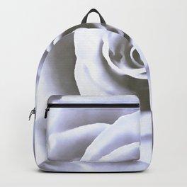 Big Pale Blue Rose Backpack