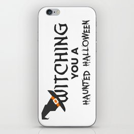 Witches Witching A Haunted Halloween Design iPhone Skin