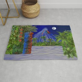 Tiki Art Background Rug