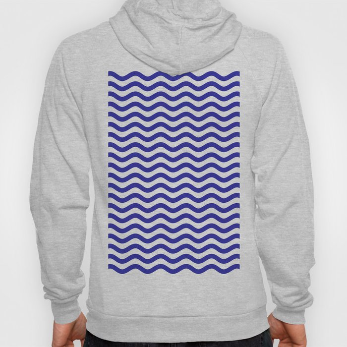 Waves (Navy & White Pattern) Hoody