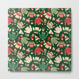 Ugly Christmas Fashion red green white Metal Print