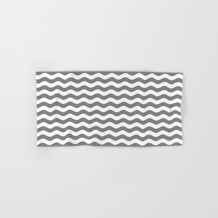 Wavy Stripes (Gray/White) Hand & Bath Towel