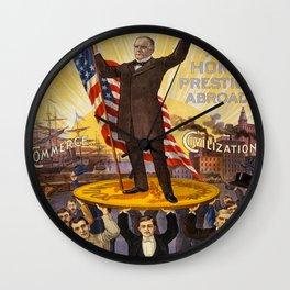 Vintage poster - William McKinley Wall Clock