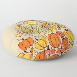 Pumpkin Spice Fall Candy Corn Floor Pillow