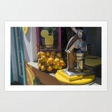 Lemon Stand Art Print