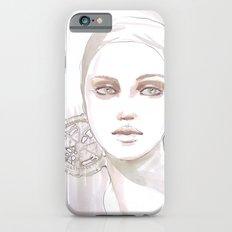 Fade fashion illustration portrait iPhone 6s Slim Case