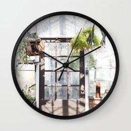 Greenhouse Fern Room Wall Clock