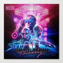 muse simulation theory album tour 2019 maupulang Canvas Print