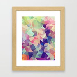 Jelly Bean Tris Framed Art Print