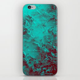 Under the Sea | Teal + Red iPhone Skin