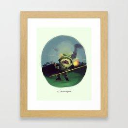 Lt. Meowington Framed Art Print