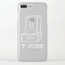 T-Bone Apple box (white) Clear iPhone Case