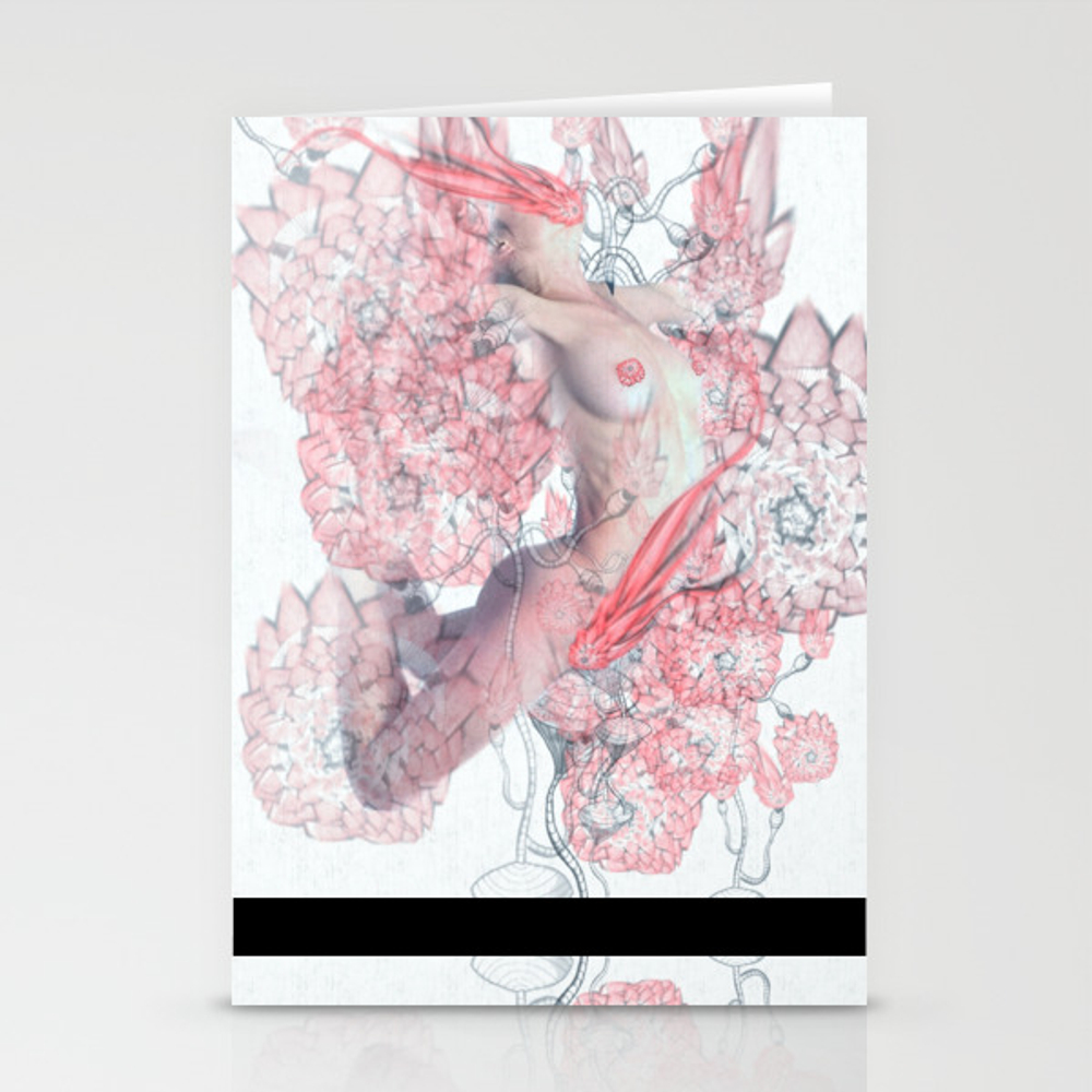 Nudist Blooms Stationery Cards by Juliakponsford CRD8827256