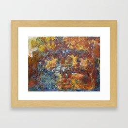 """Claude Monet """"The Japanese Footbridge"""" Framed Art Print"""