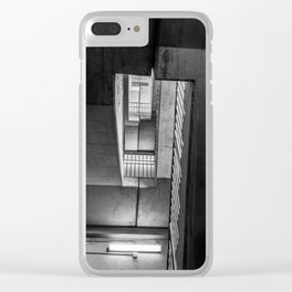 Stairwell Abstraction Clear iPhone Case