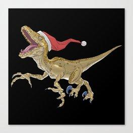 Christmas Velociraptor Canvas Print