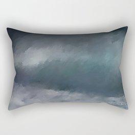 Blue Stormy Sea Rectangular Pillow