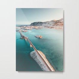 Lofoten Islands Bridges - Norway Metal Print