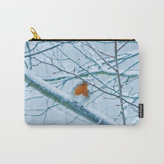 Robin in the cold Carry-All Pouch