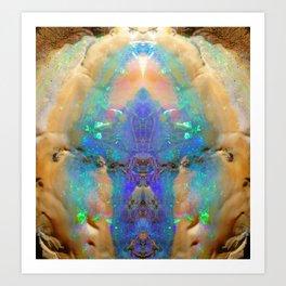 Aquamarine Opal Gemstone Marble Rock Mineral Pattern Kunstdrucke