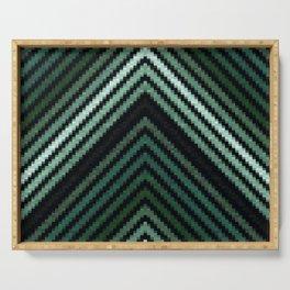Green Pixel Pyramids Serving Tray
