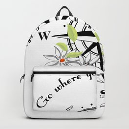 Traveling Compass Adventure World Travel Tourist Backpack