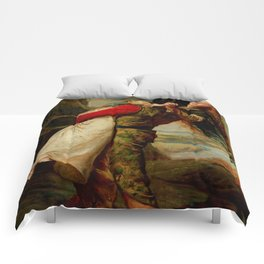 "John Everett Millais ""The Crown of Love"" Comforters"