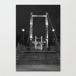 Night Europe-Asia Bridge II Canvas Print