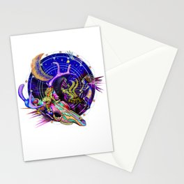 Lizard at the Dance Stationery Cards