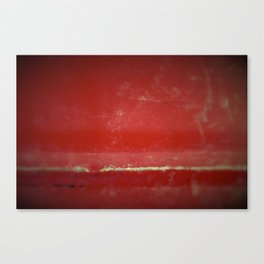 Red Plate Canvas Print