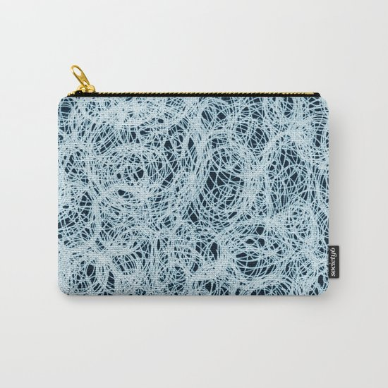 Powder Blue Ink on Black  Carry-All Pouch