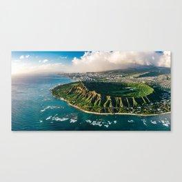 Diamond Head Aerial Panoramic Canvas Print