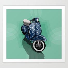 Vespa Vector Sailor Art Print