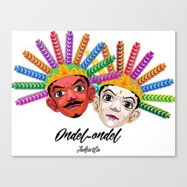 Ondel-ondel mask Canvas Print