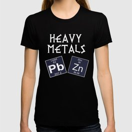 Funny Chemistry Design Heavy Metals T-shirt