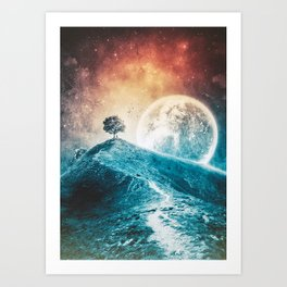 Under The Colorful Moonlight Art Print