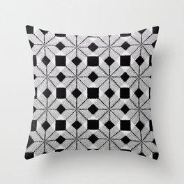 Silver Snow, Snowflakes #01 Throw Pillow